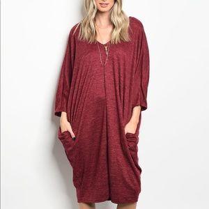 Dresses & Skirts - Burgundy Oversized sweater dress